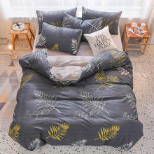 2019 New Winter Cotton/Flannel Bed Set Warm Duvet Cover Sleeping Bags Pillowcase King Full Queen Twin Size Blanket/Quilt Cover(China)
