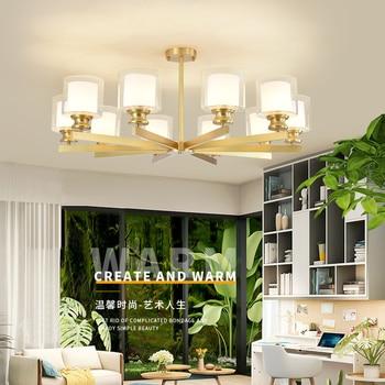 Nordic LED chandeliers Ligthing Fixture full  Copper Ceiling Chandelier For Living room Kids room  Kitchen Chandelier Lamp