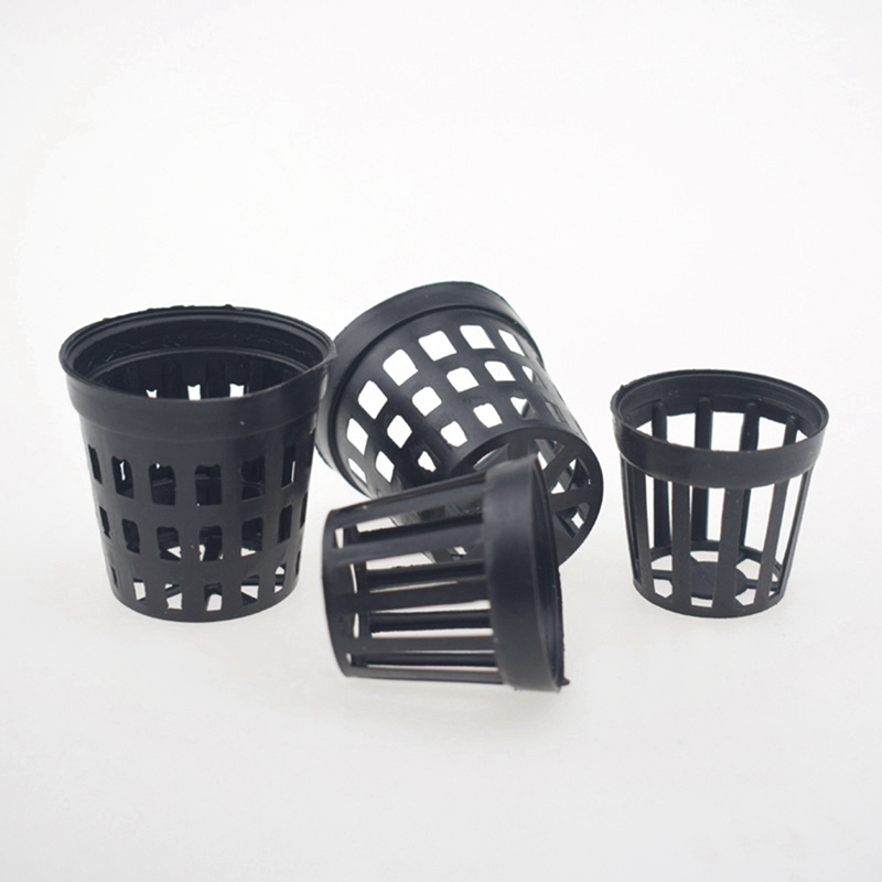 10pcs Aquarium Water Flower Plant Grass Cultivate Pot Plastic Baskets For Aquarium Fish Tank Aquatic Planting Decoration