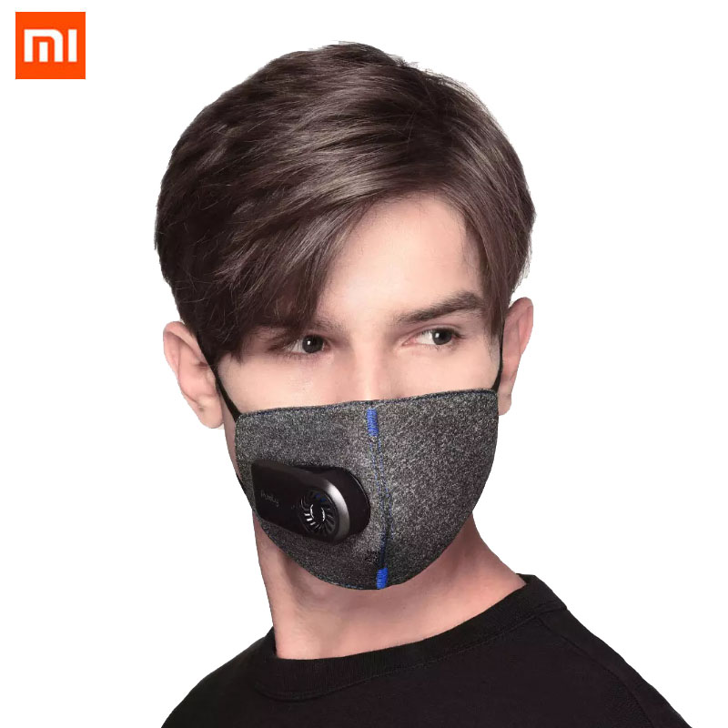 Stock Xiaomi Purely Anti-Pollution Air Mask Smart PM2.5 Rechargeable Filter Three-dimensional Structure