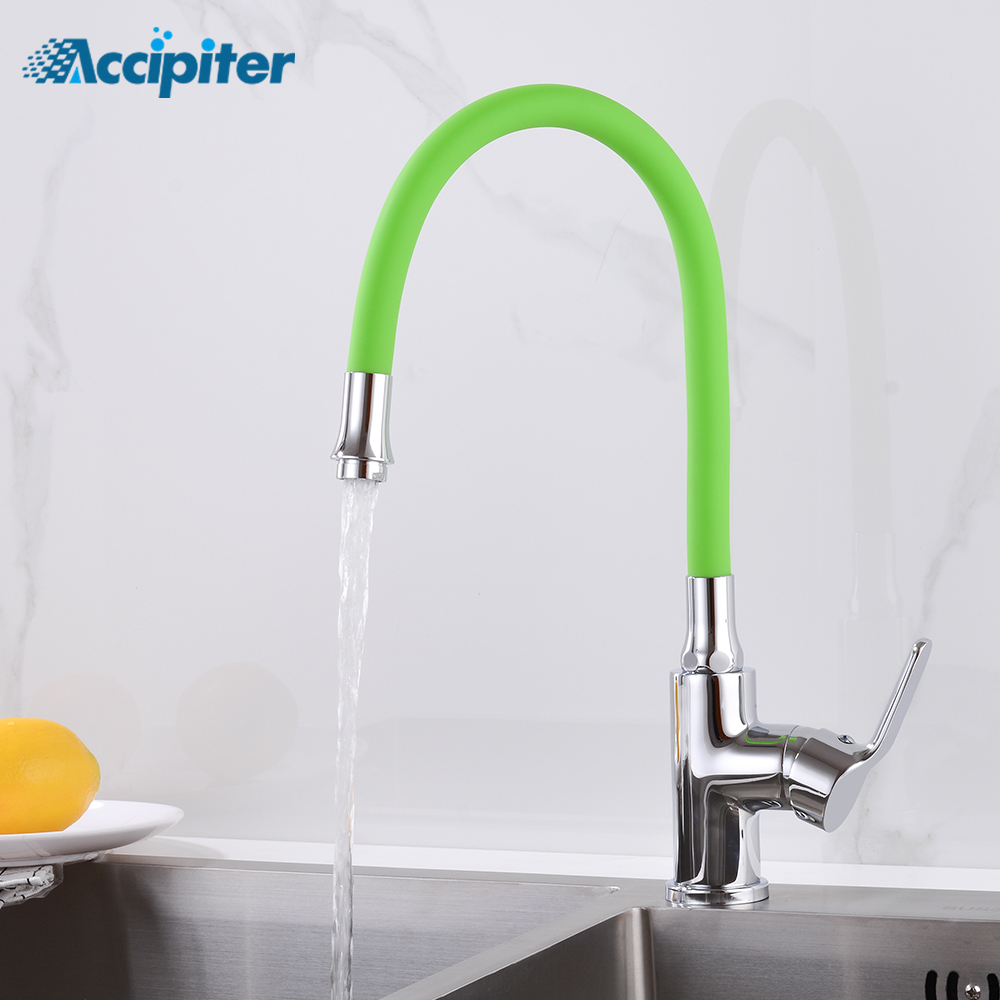 Colorful Silicone Kitchen Faucets Hot And Cold Water Taps Crane Chrome Mixer Faucet Tap 360 Swivel Handheld