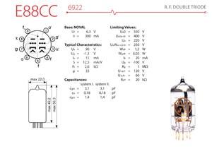 Image 5 - Slovaquie JJ E88CC Tube à vide broches dor remplacer ECC88 6922 6DJ8 6N11 Tube électronique bricolage HIFI Audio amplificateur de Tube à vide