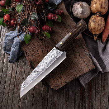7.6inch Handmade Forged Kitchen Knife Butcher Meat Chopping Cleaver Chinese Chef Knife 5CR15 Stainless Steel Butcher Knife Chef Knife Chopper Home & Garden Home Garden & Appliance Kitchen Knives & Accessories Kitchen, Dining & Bar Meat Cleaver Multifunctional Knife Color: Kitchen Knife