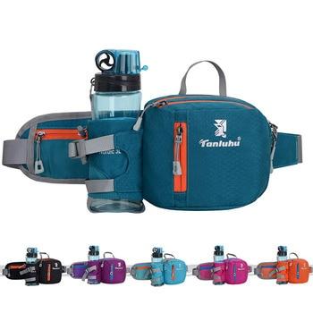 Running Bag Waist Belt Pack Outdoor Marathon Gym Sport Fitness Water Bottle Pouch Fanny Waist Pack Riding Cycling Phone Pocket