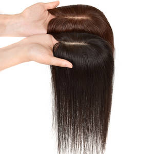 Hair-Piece Human-Hair Silk-Base Toupee-Suppliers Lace Topper Forehead Natural Remy
