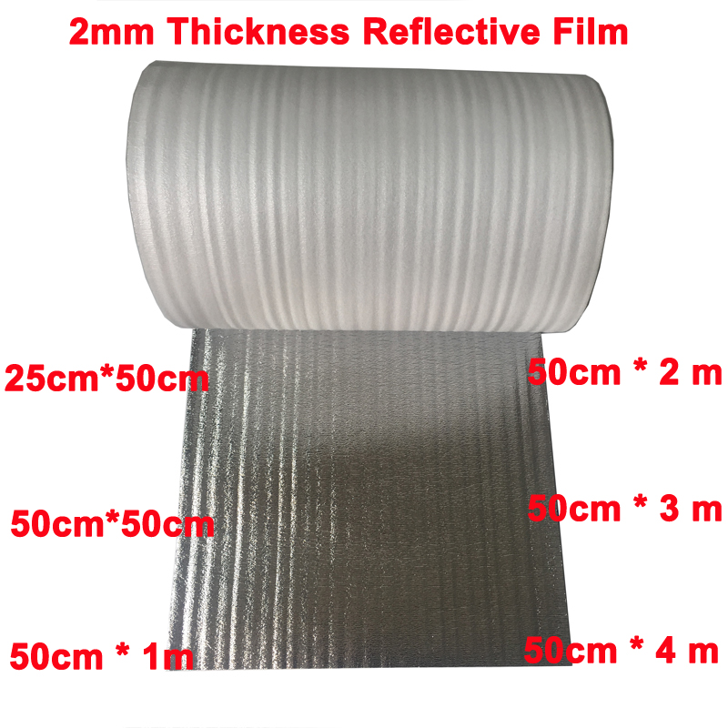 2mm Thickness Floor Heating Aluminum Foil Reflective Film Roof Insulation Film