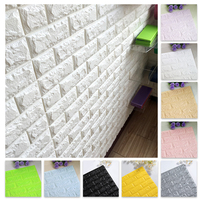 3D Wall Stickers Imitation Brick Bedroom Decor Waterproof Self-adhesive Wallpaper Panel for Home Living Room Kitchen TV Backdrop