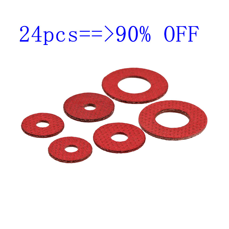 M2 M2.5 M3 Insulating Washer / Gasket Red Steel Paper Quickbar Red Meson Red Paper Flat Pad