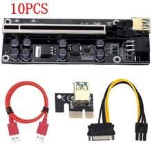 10 adet VER009S artı PCI E PCIE yükseltici 009s 6pin PCI Express adaptör kartı Molex USB 3.0 kablosu 1X 16X genişletici