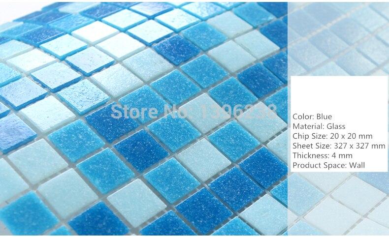 Méditerranée bleu verre mosaïque carreaux cuisine salle de bains piscine jardin balcon extérieur papier peint autocollant bricolage décor, LSHM07