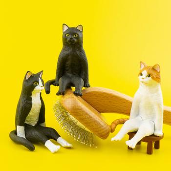 Japonia Kitan Gashapon kapsułka zabawki KITAN CLUBE figurka zwierzątko czarny kot ozdoby stołowe dekoracje siedzące koty tanie i dobre opinie Bandai Model Adult 7-12y 12 + y 18 + JP (pochodzenie) Unisex Away fire Small szie PIERWSZA EDYCJA Wyroby gotowe Gashapon Capsule Toy