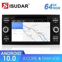 Isudar 2 Din Auto Radio Android 10 Für Ford/Mondeo/Focus/Transit/C MAX Auto DVD Multimedia GPS Player RAM 4GB ROM 64GB DVR DSP FM