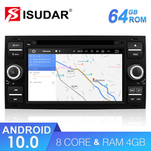 Isudar 2 Din Auto Radio Android 10 For Ford/Mondeo/Focus/Transit/C MAX Car DVD Multimedia GPS Player RAM 4GB ROM 64GB DVR DSP FM