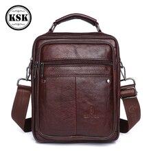 Mens Messenger Bag Shoulder Bags Genuine Leather Bag Male Belt Bags Luxury Handbag 2019 Fashion Flap Men Shoulder Handbag KSK