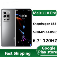 """In Stock Meizu 18 Pro 5G Mobile Phone 50.0MP 6 Cameras Android 10.0 6.7"""" 120HZ 3120x1440 40W Charge Snapdragon 888 OTA Bluetooth 1"""