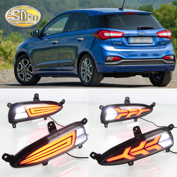 For Hyundai i20 Asta Azera Excel Veracruz 2018 Rear Bumper Reflector LED Brake Light Driving lights Turn Signal Lamp Accessories