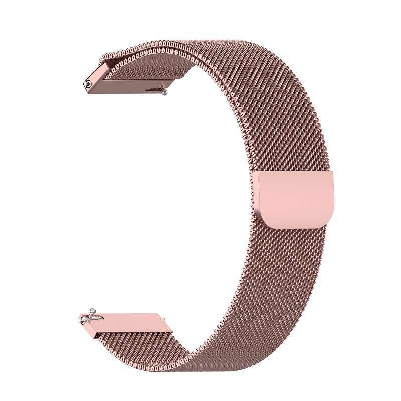 Ksadkvor dla Xiaomi Mijia Amazfit GTR 42 47MM pasek na rękę na rękę metalowej milanese loop pasek z ekranem szkło ochronne prezent