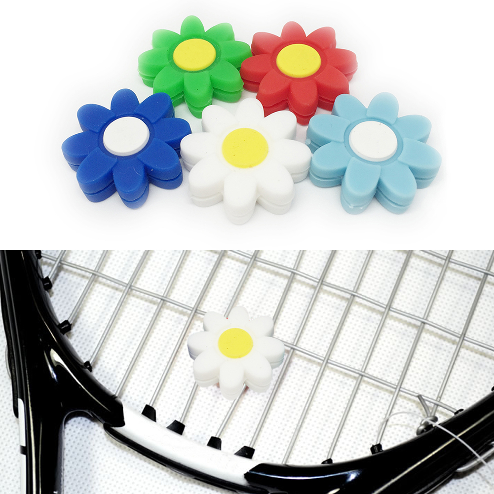 Flower Fun Practical Tennis Shock Absorber Racquet Accessories Sports Perfect Gift Cute Mini Outdoor Tennis Vibration Dampener