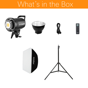 Image 2 - Godox SL 60W 5600K LED Video Light White Version Video Light Continuous Light Kit + 190cm Light Stand + 60x90cm Bowens Softbox