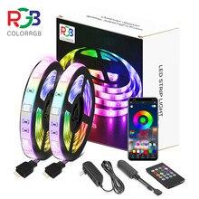 Bande de lumière LED, RGB5050, application de téléphone, 12V, bricolage pour noël