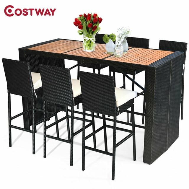 7 PCS Outdoor Dining Furniture Set 1