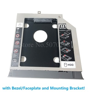 """Image 4 - Bezel Front Cover Faceplate + Bracket 2nd SATA 3.0 2.5"""" Hard Drive HDD SSD Optical Caddy for Lenovo ideapad 320 330 520"""