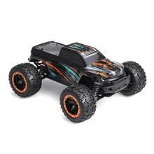 HBX 16889 iki pil ile 1:16 2.4G 4WD 45km/saat fırçasız uzaktan kumanda RC araba LED ışık Off-Road kamyon RTR modeli