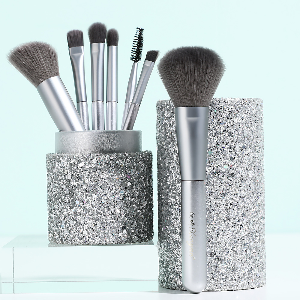 XINYAN Candy Makeup Brush Set Pink Blush Eyeshadow Concealer Lip Cosmetics Make up For Beginner Powder Foundation Beauty Tools 3