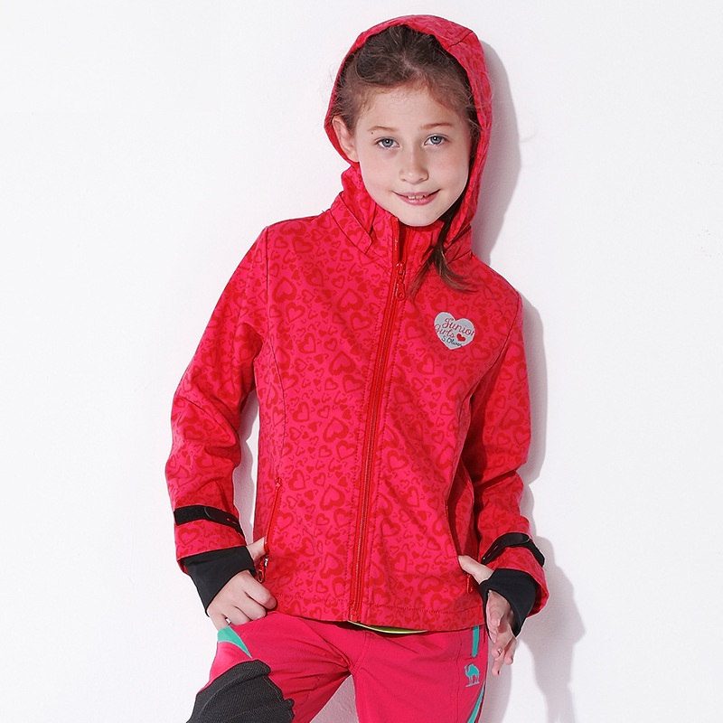 2020 NEW Spring And Autumn Trendy Girls Sport Hooded Jacket Kids Outerwear Fall Kids Soft Shell Clothing Fansion Climbing Clothe