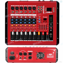 MiCWL 6 Kanal Mixer 1000W Power Verstärker Preamps DJ Mischen Konsole DSP USB 48V Phantom Bluetooth Rot Sound mixer 110V oder 220V(China)