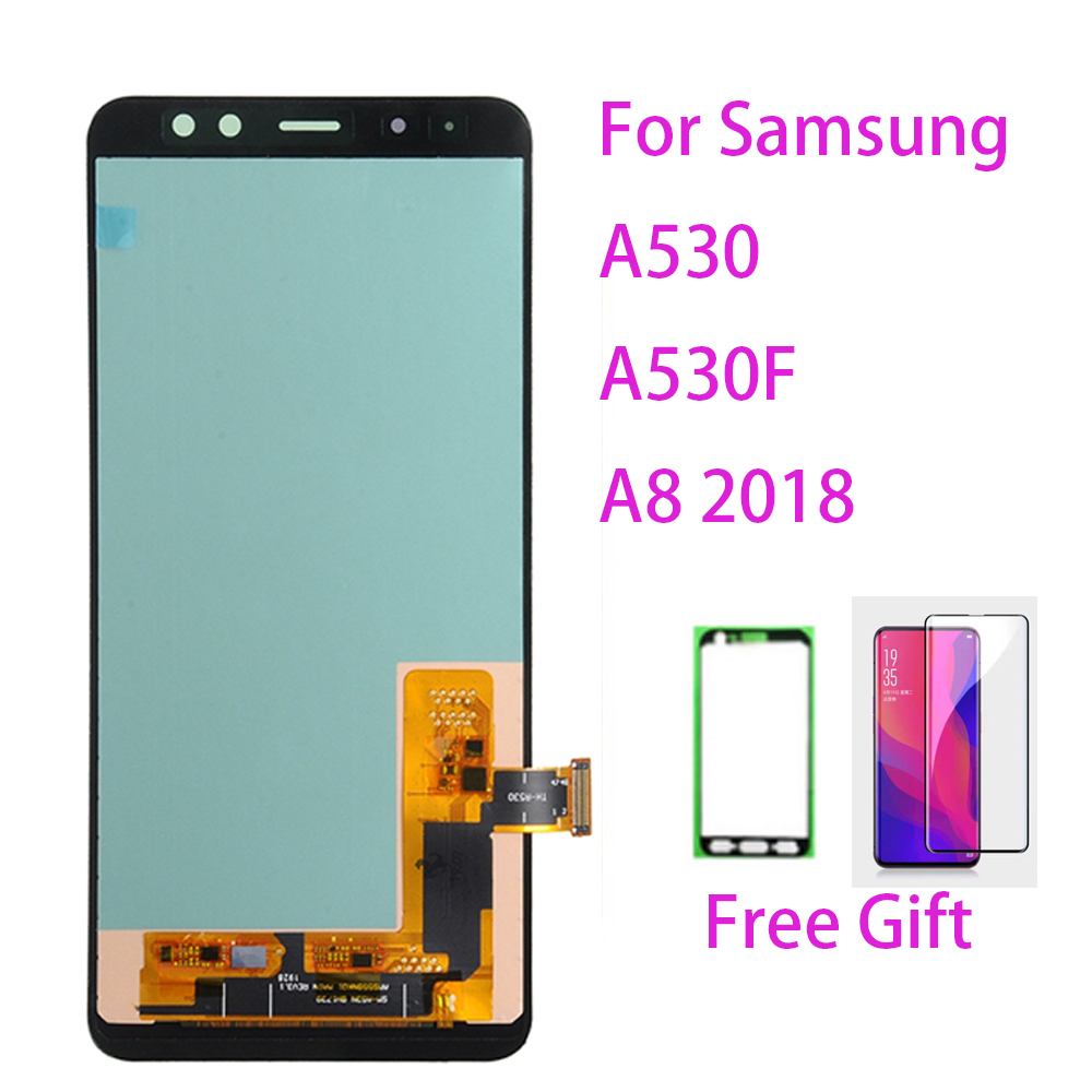 LCD Screen For Samsung Galaxy A8 (2018) A530F Touch Screen Digitizer LCD Display Frame For Samsung Galaxy A530 A530F/DS