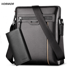 Man Leather Bag VORMOR Brand Shoulder Crossbody Bag
