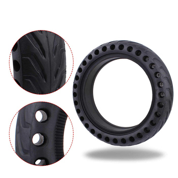 Xiaomi M365 Scooter Tire Skateboard Hollow Solid Tire Shock Absorber Electric Scooter Accessories Rubber Circle Mijia suitable for xiaomi m365 electric scooter solid honeycomb explosion proof stab proof tire free inflatable rubber tire 8 5 2 0