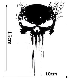 Image 3 - 15CM*10CM Car Stickers PUNISHER Skull BLOOD Window PVC Vinyl Motorcycles Decoration Funny Car Sticker and Decals Car Styling