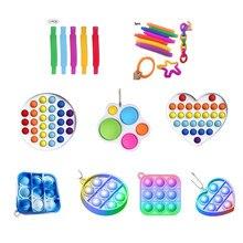 Dzieci Mini Pop rury zabawka spinner Stress Relief zmysłowa dorosła dekompresja edukacyjna Mini Finger Squish Toy