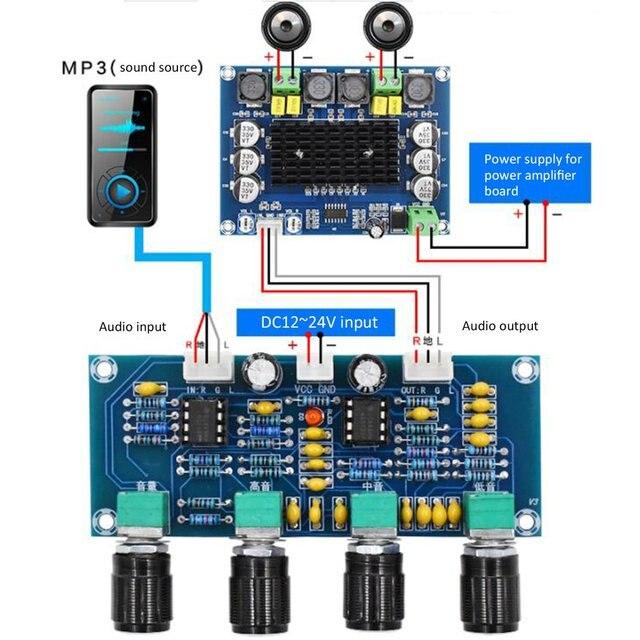 XH-A901 NE5532 Tone Board preamp Pre-amp With treble bass volume adjustment pre-amplifier Tone Controller For amplifier Board 1