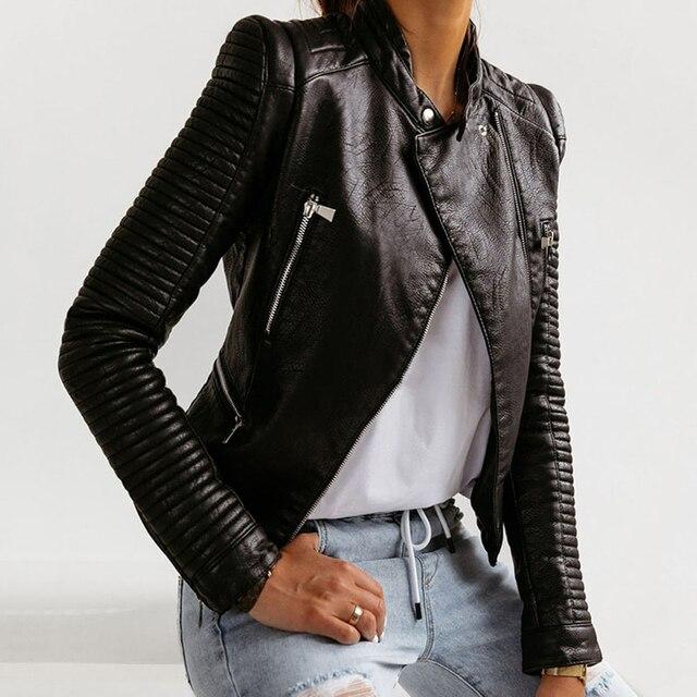 Cute Leather Biker Jacket 2
