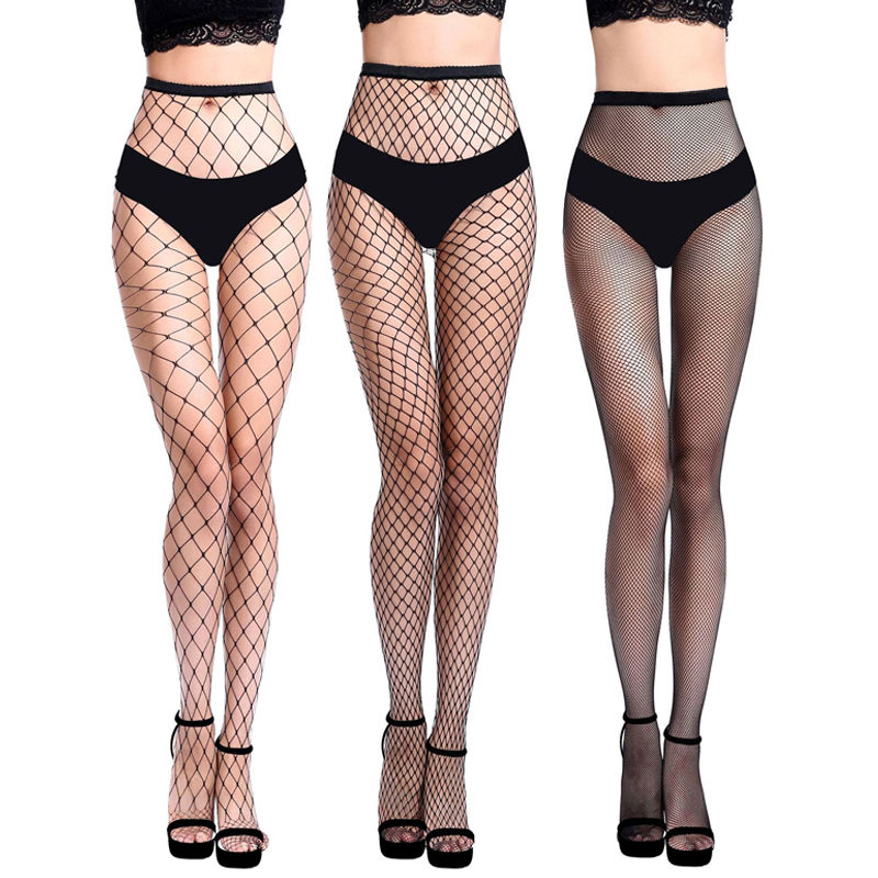 Hollow Out Sexy Pantyhose Black Mesh Fishnet Stockings Slim Net Tight Thigh Stockings Nylon Party Club Hosiery Lingerie Summer