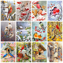 Square diamond painting DIY cross stitch kit bird decoration painting 5D rhinestone embroidery mosaic embroidery gift