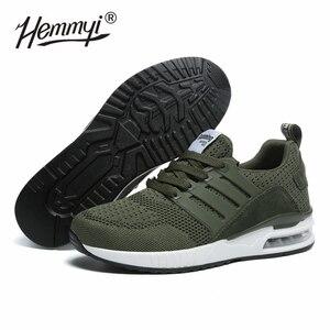 Image 1 - Женские кроссовки, сетчатые, дышащие, Basket Femme, на воздушной подушке, для пары, повседневная обувь, унисекс, Tenis Feminino, размеры 36 45, весна/осень