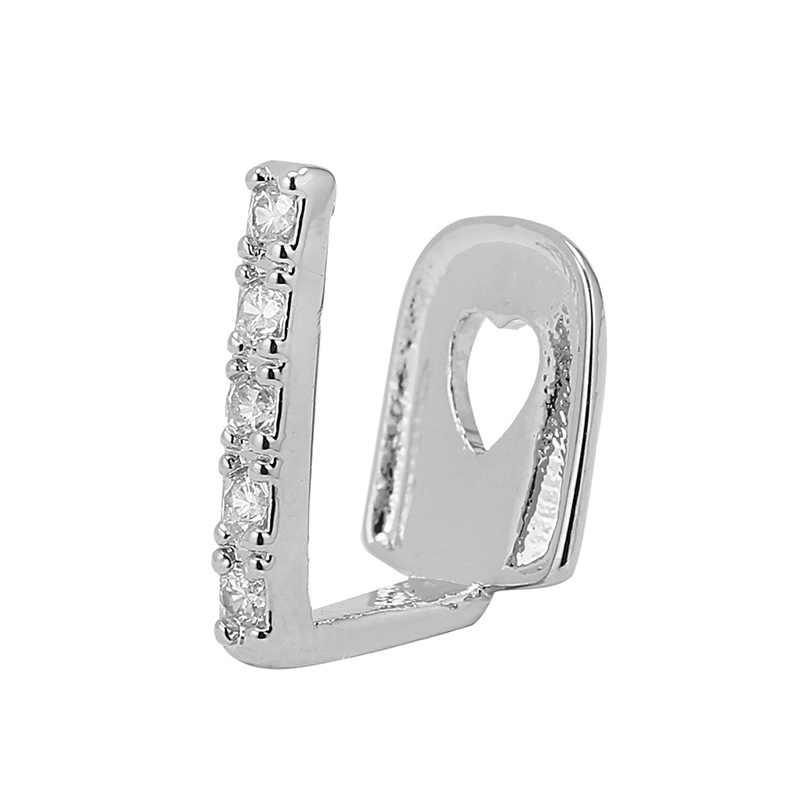 1 шт. серебряные золотые имитирующие кристаллические палочки, аксессуары для зубов в стиле панк, зубные золотые зубные колпачки, реппер, ювелирные изделия для тела, унисекс