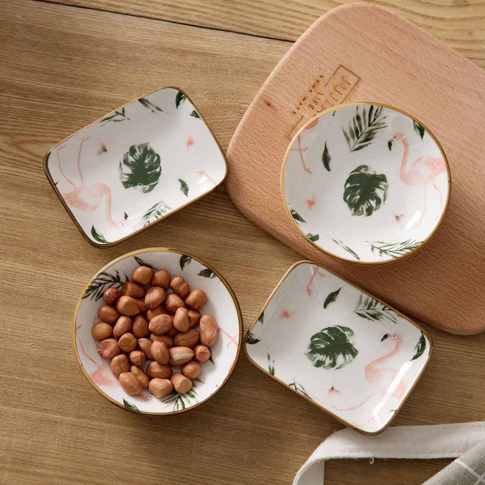 Sauce Dish Seasoning Ceramic Plate Small Dish Side Plate Butter Vinegar Soy Dishes Kitchen Snack Plates Tableware Saucer