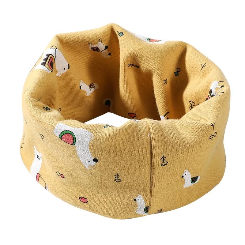 Детский снуд теплый шарф милые обертывания хлопок прекрасный детский воротник О Кольцо волшебный шейный платок снуд