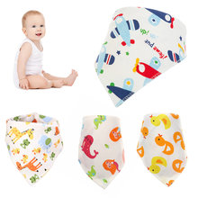 Cartoon Baby Cotton Bibs Cute Saliva Towel Baby Feeding Accessories Soft Baby Stuff Baby Bibs Double Layers Soft Cotton(China)