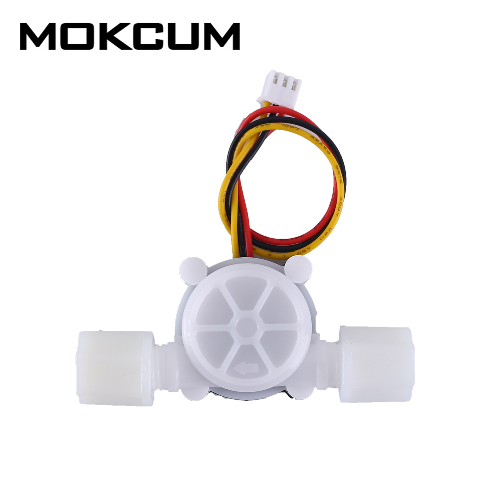 DC 5V 12V 1/4inch G1/4 Water Flow Hall Sensor Switch Flowmeter Hall Sensor Counter 0.8MPa 6L/min