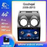 Prelingcar-Radio Multimedia con GPS para coche, Radio con reproductor, Android 10, navegador, SIN DVD, 2 Din, ocho núcleos, para Nissan Qashqai J10