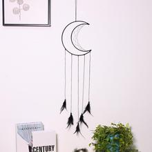 Dream Catcher Room-Decor Wall-Hanging-Decor Wind-Chimes Roon Nordic-Style Moon Home White
