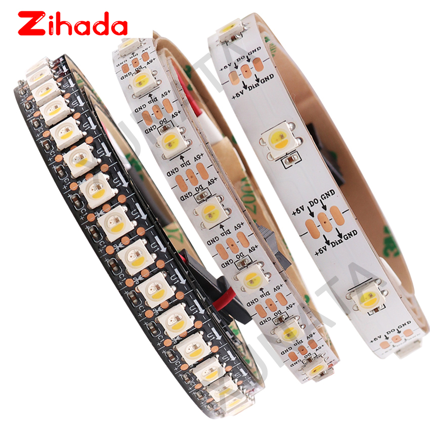 1m 2m 5m DC5V Addressable Like WS2812B 5V SK6812 RGBW Led Strip Light WWA 4 Color in 1 Led Waterproof 30/60/96/144 Leds/m