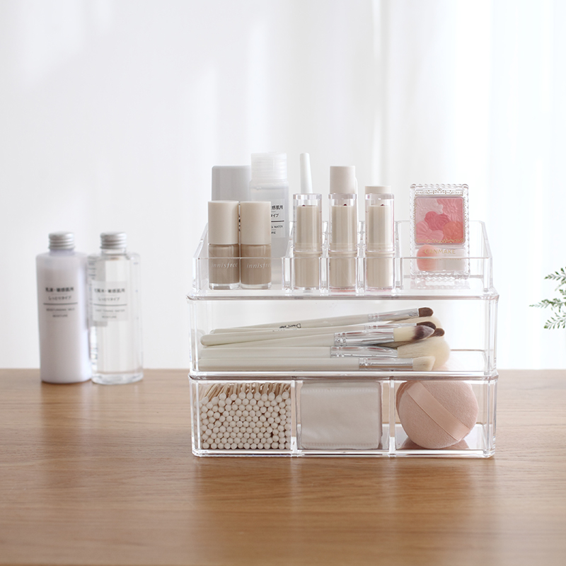 Portable and Transparent Makeup Organizer with Compartments of 18 Grids made of Acrylic for Storage of Beauty Products 4