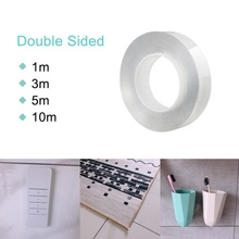 Gel-Pad Nano-Tape Removable Sticky-Strips Adhesive Clear Traceless Non-Slip Washable